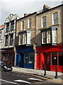 ST3187 : A red shop and a blue shop to let, Commercial Road, Newport by Jaggery