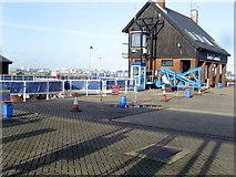 SU4208 : Lock Control at Hythe Marina by Val Pollard