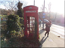 TQ3473 : A K6 telephone box looking rather sorry for itself at the corner of London Road and Sydenham Hill #2 by Robert Lamb
