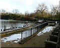 SJ9599 : Stamford Park Boating Lake by Gerald England
