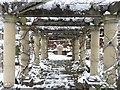 ST3087 : Snowy pergola, Belle Vue park by Robin Drayton