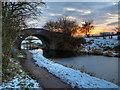 SD7908 : Rothwell Bridge at Sunset by David Dixon