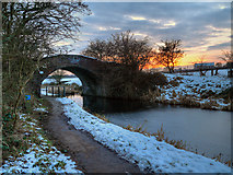 SD7908 : Rothwell Bridge at Sunset by David Dixon