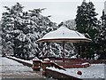 ST3087 : Snowy bandstand, Belle Vue Park by Robin Drayton
