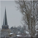SK2168 : Steeple of Bakewell Church by Peter Barr