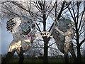 TQ3685 : Sculpture, Hackney Marsh  by David Anstiss