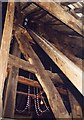 SO3958 : St Mary, Pembridge - Bell tower timbers by John Salmon