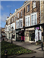 SE2955 : Shops at the foot of Montpellier Hill, Harrogate by Andrew Hill