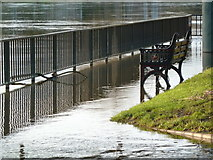 SO8455 : River Severn in flood - Worcester by Chris Allen