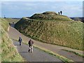 NZ2377 : Right breast, Northumberlandia by Oliver Dixon
