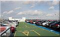 SU4416 : Top floor of multi-storey car park, Wide Lane by Peter Facey