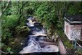 NY5655 : Hynam Weir by David Liddle