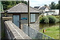 SO3405 : River monitoring station, Chain Bridge, Monmouthshire by Jaggery