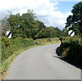 SO3204 : End of the 30mph zone in Penperlleni by Jaggery