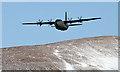NT2016 : A low flying Hercules near Birkhill by Walter Baxter
