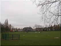 TQ3187 : Finsbury Park, Baseball and softball diamonds  by David Anstiss