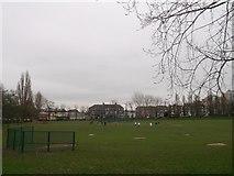 TQ3187 : Finsbury Park, Baseball and softball diamonds  by David Anstiss