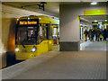 SJ8497 : Arrivals Platform, Piccadilly Undercroft by David Dixon
