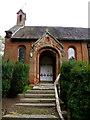 SJ4918 : Steps and Door, St John the Baptist Church, Ellesmere Road, Albrighton, near Shrewsbury, Shropshire by Terry Robinson