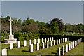 TQ4666 : Canadian Corner, Orpington Cemetery by Ian Capper