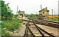 ST6643 : Cranmore station and signalbox, 1987 by Ben Brooksbank