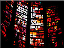 SJ3590 : Stained glass at Liverpool Metropolitan Cathedral by William Starkey