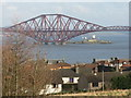 NT1278 : Forth Bridge from the Forth Road Bridge by M J Richardson