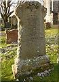 NS3477 : The gravestone of John Traquair by Lairich Rig