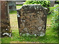 NS3477 : The gravestone of Robert Hunter by Lairich Rig
