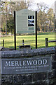 SD4179 : Merlewood entrance notice by Peter Turner