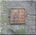 SE0324 : Old fire hydrant plate, Burnley Road by Humphrey Bolton