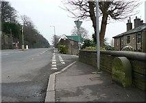 SE0724 : Boundary stone, Burnley Road by Humphrey Bolton