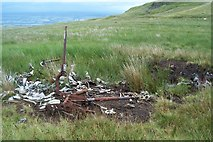 NS3160 : Avro Anson Remains Near Lairdside Hill by James T M Towill