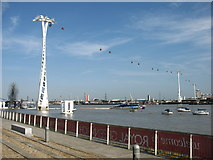 TQ3979 : Cable Cars across the River Thames by David Purchase