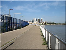 TQ3980 : The Thames Path passes the Dome by David Purchase