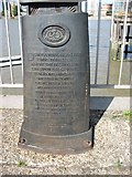 TQ3880 : The inscription on the Meridian Marker by David Purchase