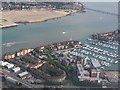 SU4310 : Aerial view over Ocean Village and the River Itchen by David Martin