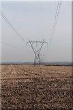 SK7369 : Pylons off Tuxford Road by J.Hannan-Briggs