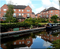 SO8276 : Canalside houses, Round Hill Wharf, Kidderminster by Jaggery