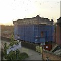 SK5336 : Demolishing Beeston Maltings by David Lally