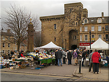 NY9364 : Hexham Market Place by David Dixon