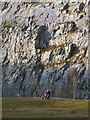 SD4972 : Out for a walk, Warton Crag Quarry by Karl and Ali