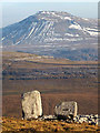 SD6876 : The Cheese Press Stone and Ingleborough by Karl and Ali