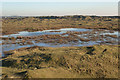 SS7882 : Large pool in the north of Kenfig Burrows by eswales