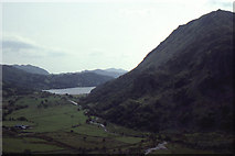 SH6554 : View down Nant Gwynant, from car park on the A498 by Christopher Hilton