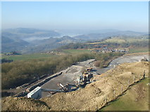SK3455 : Cliff Quarry from Crich Stand by David Beresford