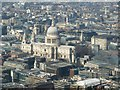 TQ3281 : Area around St Pauls as seen from The Shard by Rob Farrow