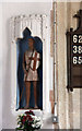 TL9059 : St George, Bradfield St George - Statue by John Salmon