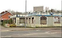 J3479 : Derelict buildings, Greencastle, Belfast by Albert Bridge