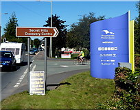 SO4382 : Welcome to the Shropshire Hills Discovery Centre, Craven Arms by Jaggery